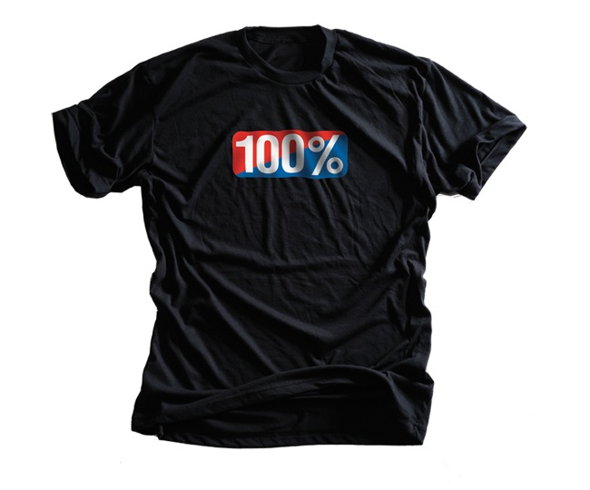 100% Old school Tee (black)