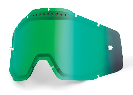 100% Vented Dual Lens Green Mirror