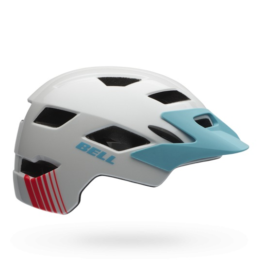 Bell Sidetrack Youth (white/glacier blue echo)