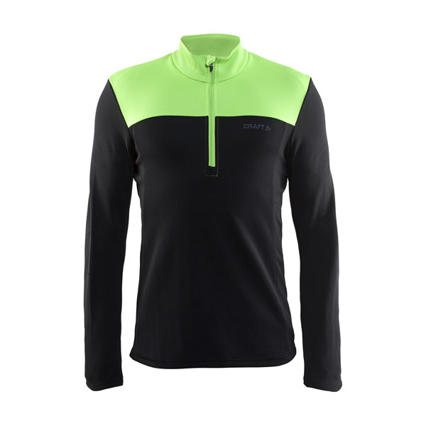 Craft Shift Free Half Zip (black/green)