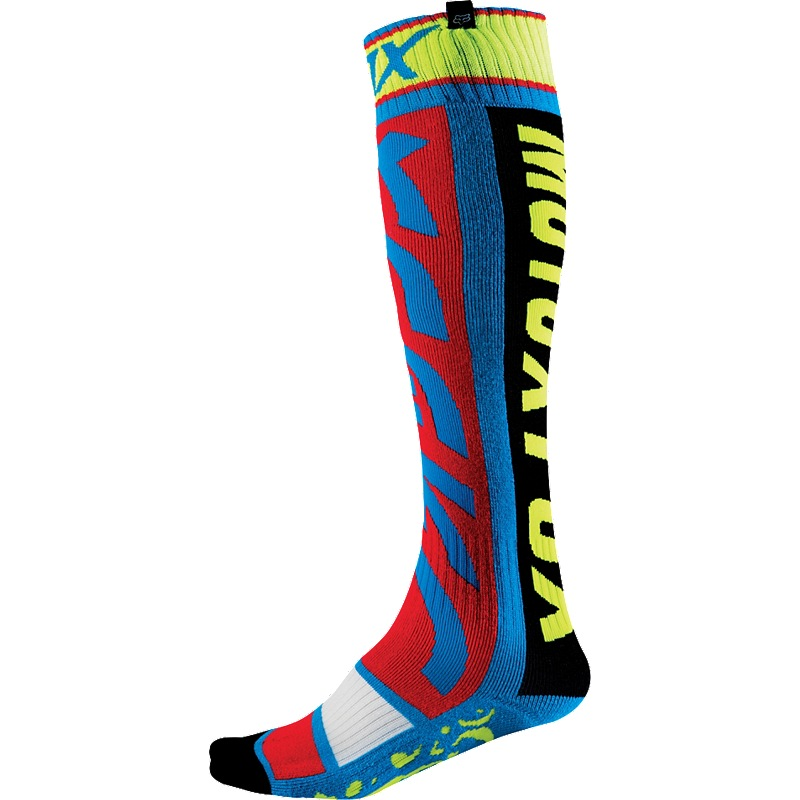 Fox FRI Divizion 16 Thin Sock (blue/yellow)