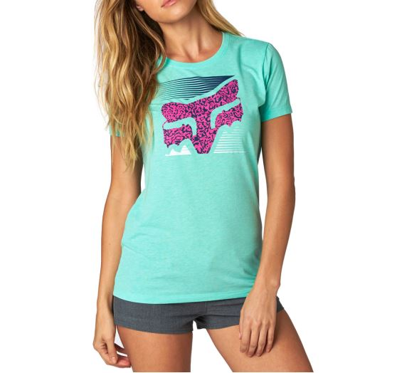 Fox Girls Crossed Up Crew Tee (green)