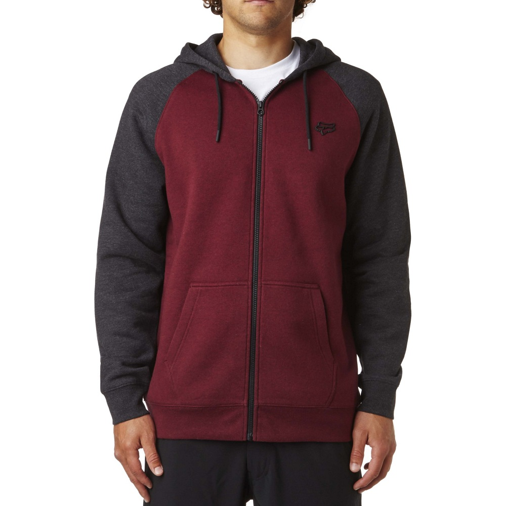 Fox Legacy Zip Fleece (heather burgundy)