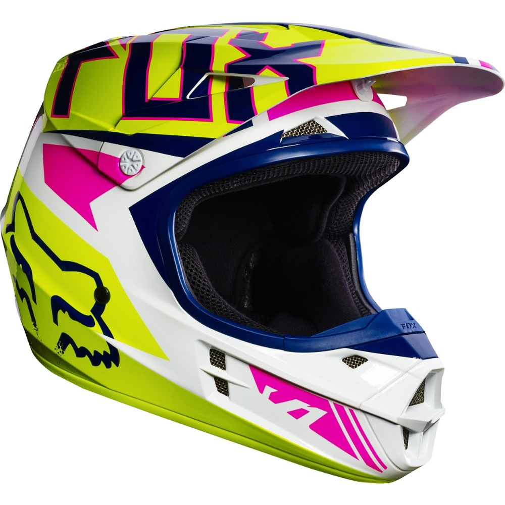 Fox V1 Falcon MX17 Helmet (navy/white)