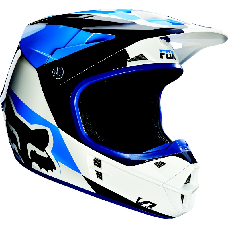 Fox V1 Mako 16 Helmet (white)