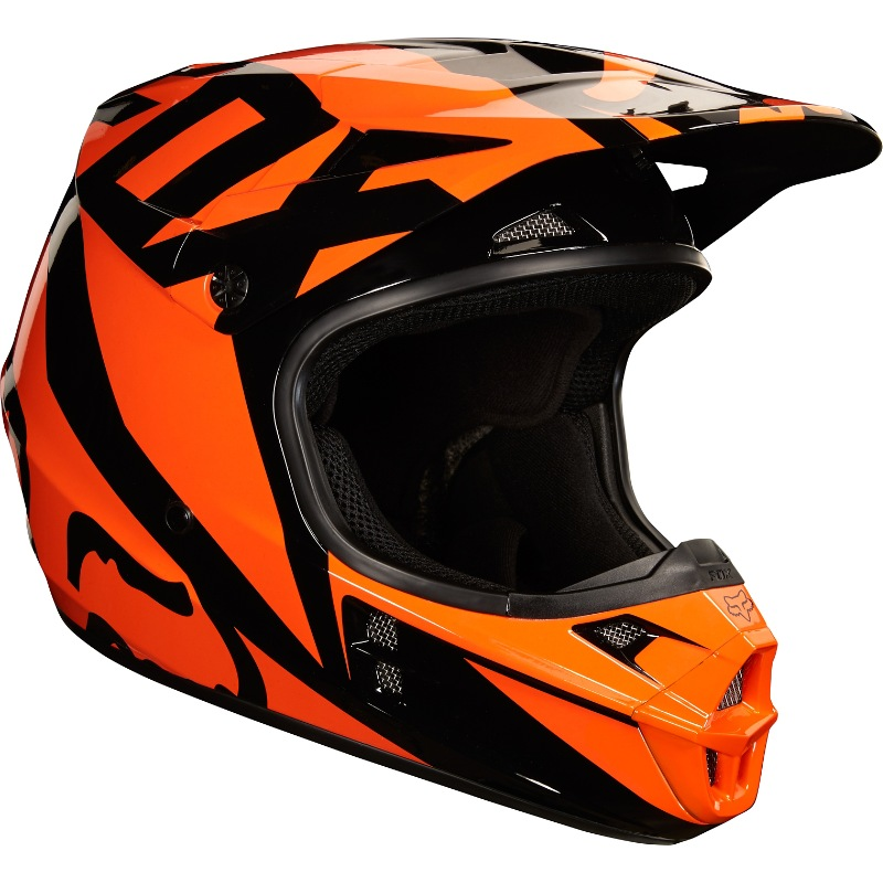 ef0b8ba10cf Fox V1 Race MX18 Helmet (orange)
