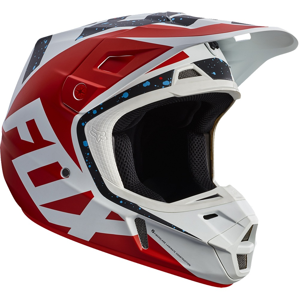 Fox V2 Nirv MX17 Helmet (red/white)