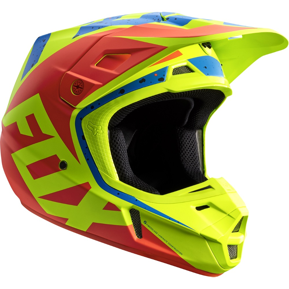 Fox V2 Nirv MX17 Helmet (yellow/blue)