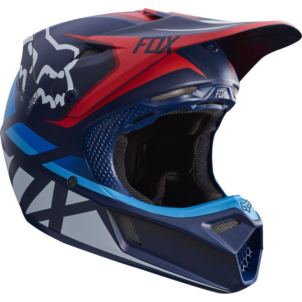 Fox V3 Seca MX17 Helmet (navy)