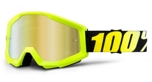 100% Strata Neon Yellow Mirror