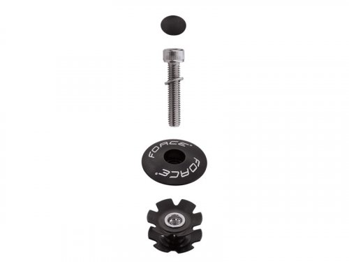 Force Ahead Star Nut + Top Cap (black)