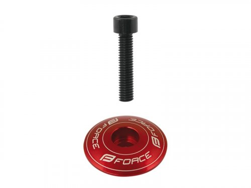 Force CNC Ahead Star Nut + Top Cap (red)
